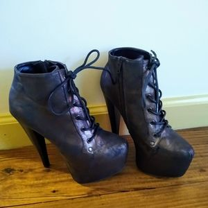 Metallic Brown Qupid Booties